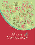 Merry Christmas card. With elements Stock Photo