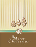 Merry Christmas card. With elements Royalty Free Stock Photos