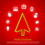 Merry christmas card. Social media concept stock illustration