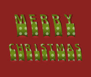 Merry christmas card. Vector illustration Stock Image