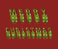 Merry christmas card. Vector illustration Royalty Free Illustration