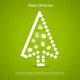 Merry christmas card. With computer cursor Royalty Free Stock Image
