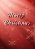 Merry Christmas Card. A merry christmas card with light Stock Image