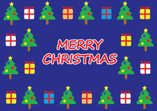 Merry christmas card. Fantasy blue merry christmas card Royalty Free Stock Image