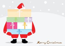 Merry Christmas Card. Merry Christmas from Santa Claus Royalty Free Stock Photos