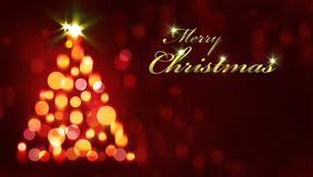 Merry Christmas card. On dark background Royalty Free Stock Photo