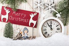 Free Merry Christmas Card Royalty Free Stock Image - 63270086