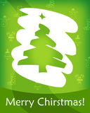 Merry Christmas card. Green Merry Christmas card with snow Royalty Free Illustration
