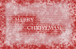 Merry Christmas card. Merry christmas card  in snowflakes Stock Image