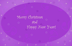 Merry Christmas card. Merry christmas card with stars Royalty Free Stock Images