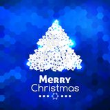 Merry Christmas card abstract blue background Royalty Free Stock Images