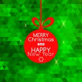 Merry Christmas card abstract green background Royalty Free Stock Images