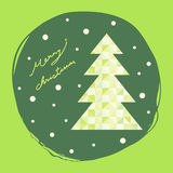 Merry christmas card, abstract xmas tree, vector Stock Photography