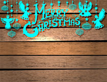 Merry Christmas  card with Angels and toys Stock Photo
