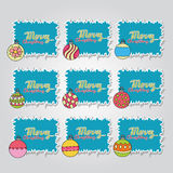 Merry Christmas card background design with decoration balls elements. Greeting card doodle Royalty Free Stock Image
