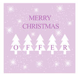 Merry christmas card,background or sale/discount banner Stock Photos