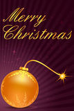 Merry christmas card with ball Stock Images