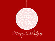 Merry Christmas card with a ball Stock Image