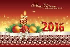 Merry Christmas 2016 Stock Image