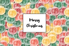 Merry Christmas Christmas card with Christmas bauble as a background royalty free illustration