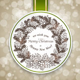 Merry Christmas card with bokeh Royalty Free Stock Photo