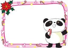 Merry Christmas card border frame Royalty Free Stock Image