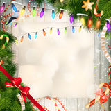 Merry Christmas card with copy space. EPS 10 Royalty Free Stock Image
