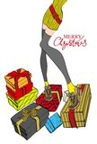 Merry Christmas  card. Royalty Free Stock Images