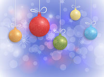 Merry Christmas card design.Christmas Greeting Card with Christmas ball Royalty Free Stock Image