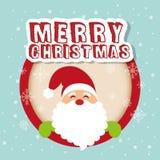 Merry christmas card design Stock Image