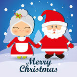 Merry christmas card design Stock Images