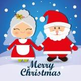 Merry christmas card design royalty free illustration