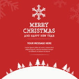 Merry Christmas Card Design Stock Photography