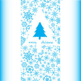 Merry christmas card eps10. Merry christmas simple card with tree eps10 Royalty Free Illustration