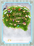 Merry christmas card. Eps 10 Stock Photography