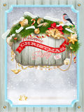 Merry christmas card. Eps 10 Royalty Free Stock Photos