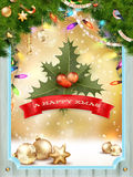 Merry christmas card. Eps 10 Stock Photo