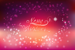 Merry Christmas card with flares and sparkles royalty free illustration