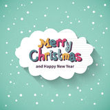 Merry Christmas card. Flat design. Stock Image