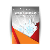 Merry Christmas card or flywr Royalty Free Stock Photography