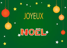 Merry christmas card in french Royalty Free Stock Image
