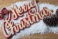 Merry Christmas card gift Stock Photography