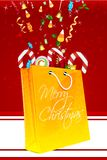 Merry christmas card with gifts Royalty Free Stock Photos