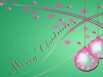 Merry Christmas card with glitter and stars Royalty Free Stock Photos