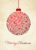 Merry Christmas Card. Christmas Greeting Card. Merry Christmas lettering,  illustration Stock Photos