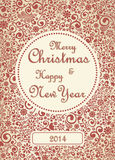 Merry Christmas Card. Christmas Greeting Card. Merry Christmas lettering, vector illustration Royalty Free Stock Images