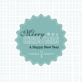 Merry Christmas Card. Christmas Greeting Card. Merry Christmas lettering, vector illustration Royalty Free Stock Photo