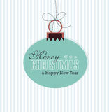 Merry Christmas Card. Christmas Greeting Card. Merry Christmas lettering, vector illustration Stock Photography