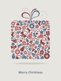Merry Christmas Card. Christmas Greeting Card. Merry Christmas lettering, vector illustration Stock Images