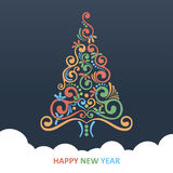 Merry Christmas Card. Christmas Greeting Card. Merry Christmas lettering, vector illustration Royalty Free Stock Image